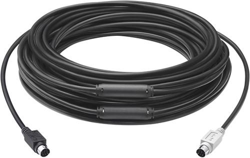 Logitech 939-001490 15m 6-p Mini-DIN 6-p Mini-DIN Zwart PS/2-kabel