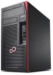 Fujitsu CELSIUS W570 3.6GHz i7-7700 Desktop Zwart, Rood Workstation