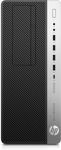 HP EliteDesk 800 G3 3.6GHz i7-7700 Toren Zwart, Zilver PC-1