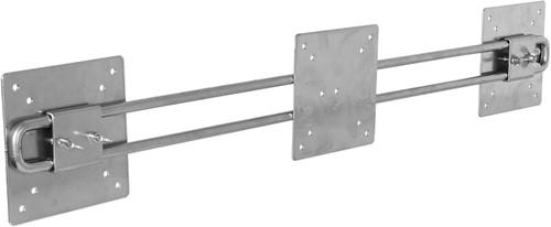 R-Go Tools Steel Wing voor 2 Beeldschermen, zilver