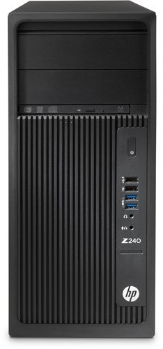 HP Z240 Tower 4.2GHz i7-7700K Toren Zwart PC-3