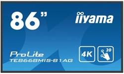 "iiyama ProLite TE8668MIS-B1AG 86"" 3840 x 2160Pixels Multi-touch Multi-gebruiker Zwart touch screen-monitor"