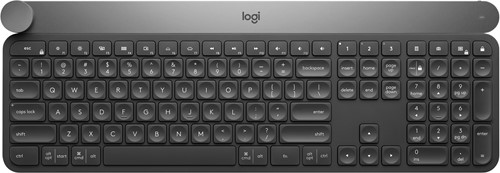 Logitech Craft RF Wireless + Bluetooth QWERTY US International Zwart, Grijs