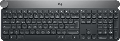 Logitech Craft RF Wireless + Bluetooth QWERTZ Zwitsers Zwart, Grijs toetsenbord