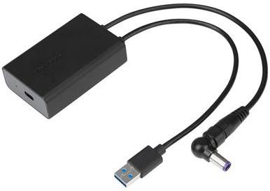 Targus ACA42EUZ USB 3.0 Type A + Targus 3-pin DC USB Type C Zwart kabeladapter/verloopstukje