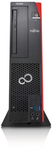 Fujitsu CELSIUS J550/2 3.8GHz E3-1275V6 SFF Zwart, Rood PC-2