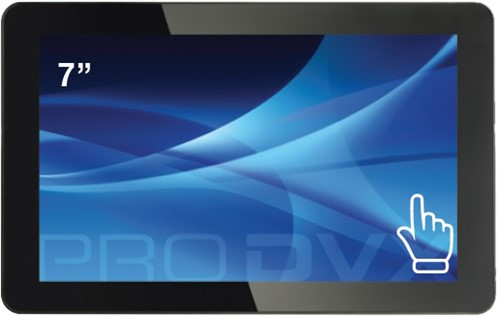 "ProDVX TMP-07 7"" 1024 x 600Pixels Multi-touch Zwart touch screen-monitor"