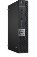 DELL OptiPlex 7050 2.7GHz i5-7500T 1.2L  maat pc Zwart Mini PC