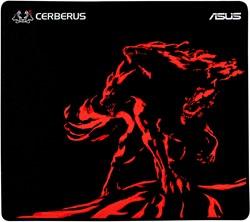 ASUS Cerberus Mat Plus Zwart, Rood muismat