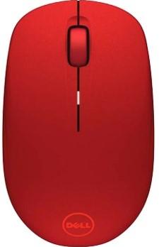 DELL WM126 RF Draadloos Optisch 1000DPI Ambidextrous Rood muis