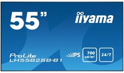 "iiyama LH5582SB-B1 Digital signage flat panel 54.6"" LED Full HD Zwart beeldkrant"