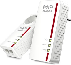 AVM FRITZ!Powerline 1260E WLAN Set International 1200Mbit/s Ethernet LAN Wi-Fi Wit 2stuk(s) PowerLine-netwerkadapter