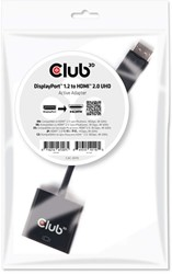 CLUB3D DisplayPort 1.2 to HDMI 2.0 UHD Active Adapter