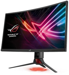 "ASUS ROG Strix XG32VQ 31.5"" 2K Ultra HD VA Glans Zwart, Grijs, Rood computer monitor"