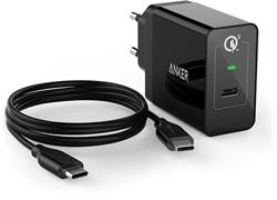 Anker PowerPort+ Binnen Zwart oplader voor mobiele apparatuur