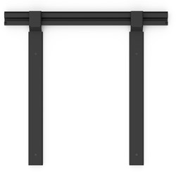 "NEC 100014861 55"" Zwart flat panel muur steun"