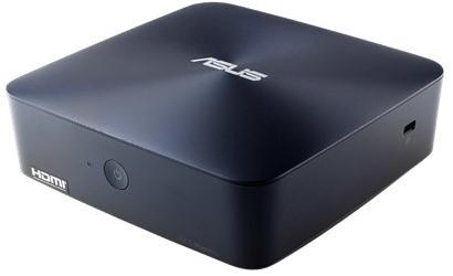 ASUS VivoMini UN45H-DM335Z 1.6GHz N3160 1L  maat pc Blauw Mini PC