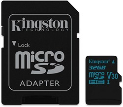 Kingston Technology Canvas Go! 32GB MicroSDXC UHS-I Klasse 10 flashgeheugen