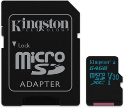Kingston Technology Canvas Go! 64GB MicroSDXC UHS-I Klasse 10 flashgeheugen