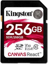 Kingston Technology SD Canvas React 256GB SDXC UHS-I Klasse 10 flashgeheugen
