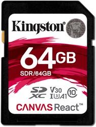 Kingston Technology SD Canvas React 64GB SDXC UHS-I Klasse 10 flashgeheugen