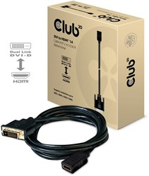 CLUB3D DVI to HDMI 1.4 Cable M/F 2 meter Bidirectional