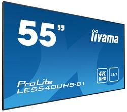 """iiyama LE5540UHS-B1 54.6"""" LED 4K Ultra HD Zwart beeldkrant"""