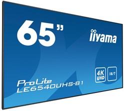 """iiyama LE6540UHS-B1 64.6"""" LED 4K Ultra HD Zwart beeldkrant"""