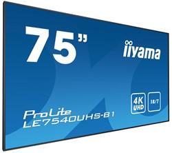 """iiyama LE7540UHS-B1 75"""" LED 4K Ultra HD Zwart beeldkrant"""