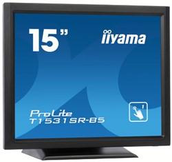 "iiyama ProLite T1531SR-B5 15"" 1024 x 768Pixels Zwart touch screen-monitor"