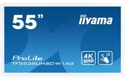 iiyama ProLite TF5538UHSC-W1AG 3840 x 2160Pixels Multi-touch Multi-gebruiker Wit touch screen-monitor
