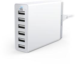 Anker PowerPort 6 Binnen Wit oplader voor mobiele apparatuur