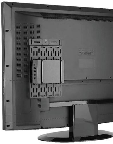 Newstar NS-MPM100 Monitor stand-mounted CPU holder Zwart CPU-houder