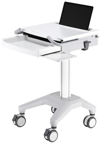 Newstar MED-M200 Notebook Multimedia cart Wit multimediawagen & -steun