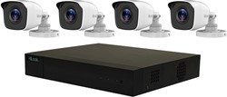 HiLook Analog KIT CCTV security camera Binnen & buiten Rond Wit 1920 x 1080 Pixels