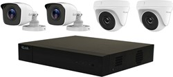 HiLook Analog KIT CCTV security camera Binnen & buiten Dome Wit 1920 x 1080 Pixels