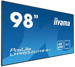 "iiyama LH9852UHS-B1 Digital signage flat panel 98"" LED 4K Ultra HD Zwart beeldkrant"