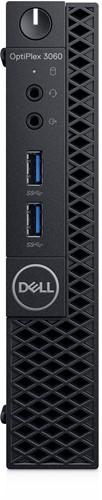 DELL OptiPlex 3060 3.1GHz Mini PC Zwart Mini PC