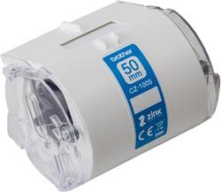 Brother CZ-1005 Wit op groen CZ labelprinter-tape