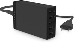 Avanca 5-Poorts USB Hub - Zwart