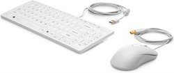 HP USB Keyboard & Mouse Healthcare Edition QWERTY Engels Wit