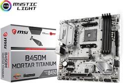 MSI B450M MORTAR TITANIUM Socket AM4 AMD B450 micro ATX