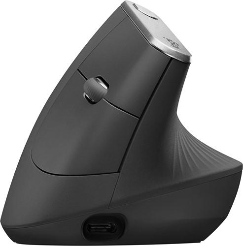 Logitech MX Vertical Advanced Ergonimic RF draadloos + Bluetooth 4000DPI Rechtshandig Zwart muis