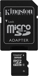 Kingston Technology 32GB microSDHC 32GB MicroSDHC Flash flashgeheugen