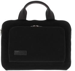 """BOND 13""""-14"""" sleeve/tas met voorvak canvas zwart"""