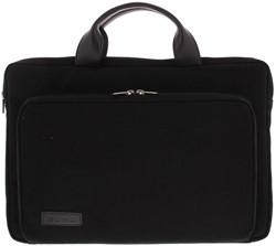 """BOND 15""""-15.6"""" sleeve/tas met voorvak canvas zwart"""