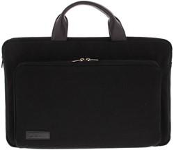 """BOND 17.3"""" sleeve/tas met voorvak canvas zwart"""