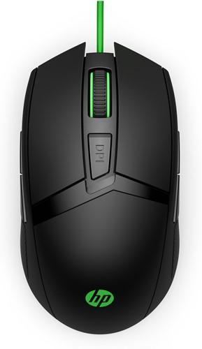 HP 300 muis USB Optisch 5000 DPI Ambidextrous Zwart, Groen