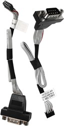 Shuttle PCP21 kabeladapter/verloopstukje COM 10-pin (2×5) Zwart, Grijs