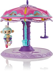 WowWee Fingerlings Carrousel speelset + 1 baby aapje Abigail